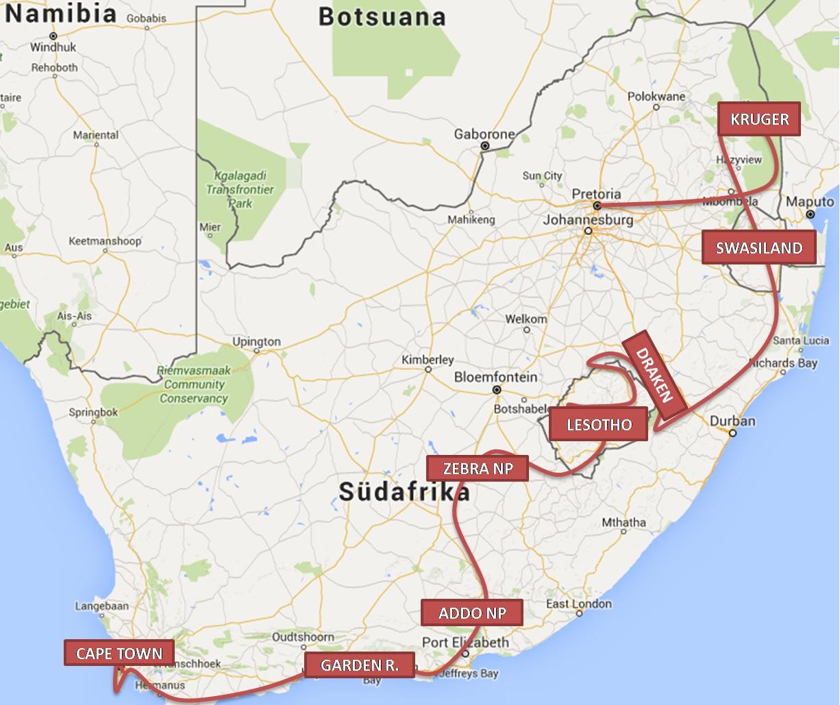 SA Route
